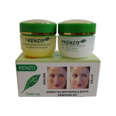 Bộ sản phẩm kem trị nám và làm trắng da Kenzo tinh chất trà xanh -Nga