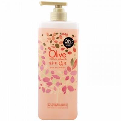 Sữa tắm dưỡng da On The Body Olive Moisture Bodywash 900g (Chai hồng)