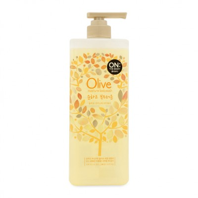 Sữa tắm dưỡng da On The Body Olive Moisture Bodywash 900g (Chai vàng)