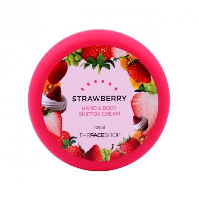 Kem dưỡng thể và tay Shiffon Cream dâu tâyThe Face shop 100ml - Hàn Quốc