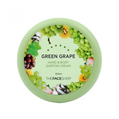 Kem dưỡng thể và tay Shiffon Cream nho xanh The Face shop 100ml - Hàn Quốc
