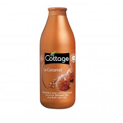 Sữa tắm dưỡng trắng da Cottage Le Caramel  hương mật ong 750ml