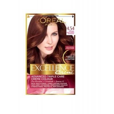 Thuốc nhuộm tóc L'oreal Excellence Creme  4.45 Mahogany Copper Brown Thái Lan