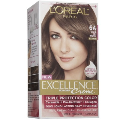 Thuốc nhuộm tóc L'oreal Excellence Creme 6A Light Ash Brown  Mỹ