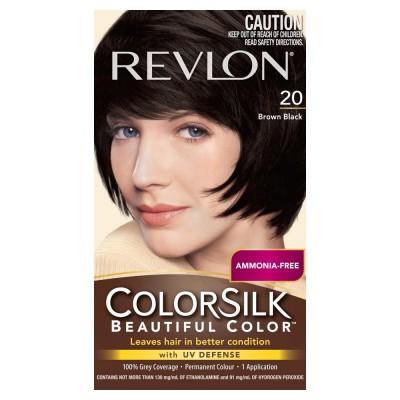 Thuốc nhuộm tóc Revlon Colorsilk 20 Brown Balck Mỹ