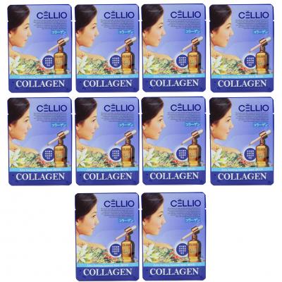 10 miếng mặt nạ trắng da Cellio Collagen Hàn Quốc