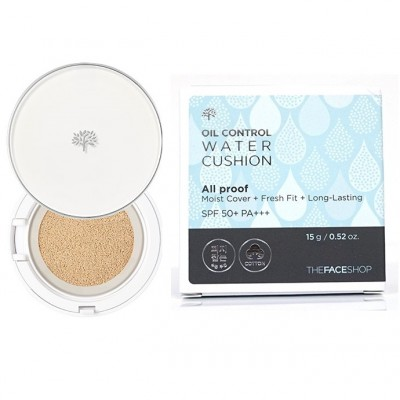 Phấn nước cho da dầu Oil Control Water Cushion All Proof The Face Shop 15g - Hàn Quốc