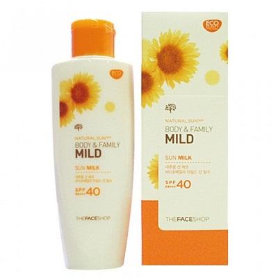 Sữa chống nắng Natural Sun Eco Body & Family Mild Sun Milk SPF40 PA++ 120ml