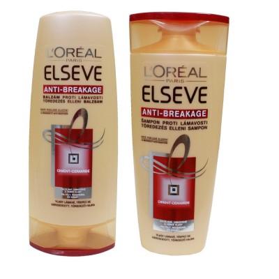 Bộ dầu gội xả L'oreal elseve giúp phục hồi tóc hư tổn 250ml
