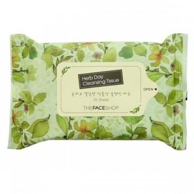 Giấy tẩy trang Herb day Cleaning Tissue 20 tờ The Face Shop xách tay Hàn Quốc