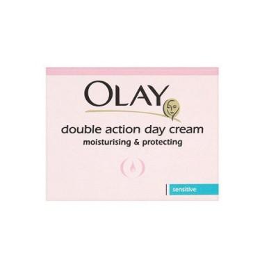 Kem dưỡng da 2 tác động cho da nhạy cảm ban ngày Olay Double Action Moisturiser Day Cream & Primer sensitive 50ml - Anh