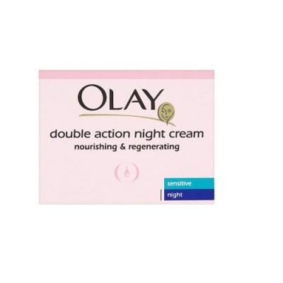 Kem dưỡng da 2 tác động cho da nhạy cảm ban đêm Olay Double Action Night Cream Sensitive Moisturiser 50ml - Anh
