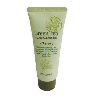 Sữa rửa mặt trà xanh 3W Clinic 100g Hàn Quốc