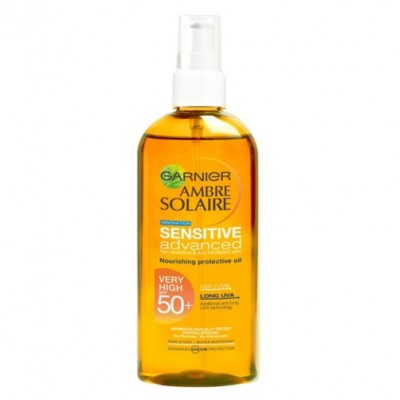 Tinh dầu chống nắng Garnier  Ambre Solaire Sensitive Advanced Sun Protection Nourishing Protection Oil SPF50 150ml - Pháp