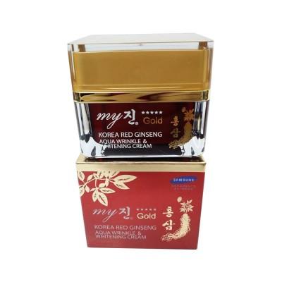 Kem trị nám và dưỡng trắng Hồng Sâm Aqua Wrinkle & White cream My Gold Hàn Quốc