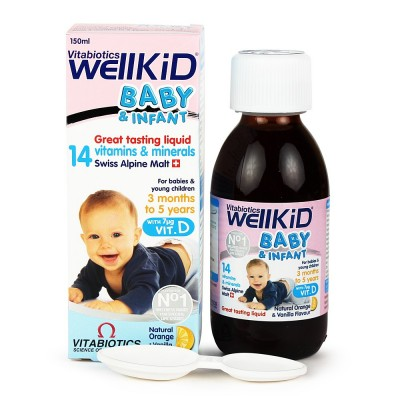Wellkid® Baby & Infant Liquid - Vitamin tổng hợp bổ dung Omega3