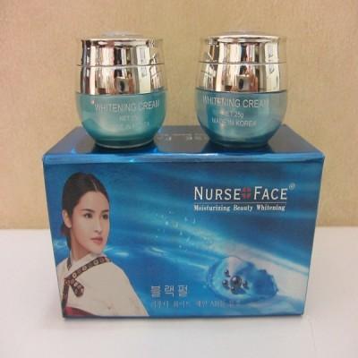 Bộ mỹ phẩm trắng da, trị nám, tàn nhang Nurse Face Ngọc Trai 2in1(A040) Hàn Quốc