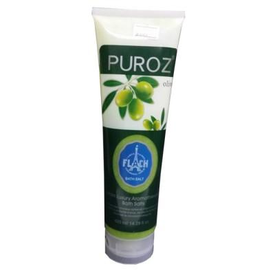 Muối Tắm Trắng Tẩy Thâm Olive Puroz 420ml Pháp