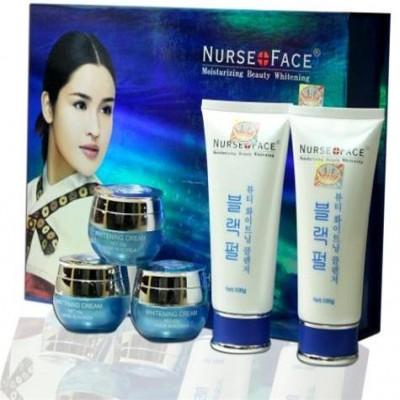 Bộ mỹ phẩm trắng da, trị bị nám Nurse Face ngọc trai - (5 in 1) HÀN QUỐC (A008)