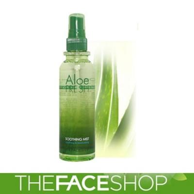 Xịt khoáng lô hội Aloe Fresh Soothing Mist The Face Shop 130ml Hàn Quốc