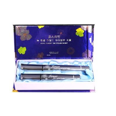 Bộ đôi Mascara Flower Cosline giúp dài và cong mi Hàn Quốc