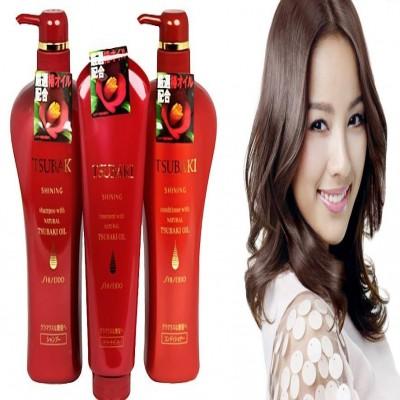 Bộ dầu gội, xả, hấp Shiseido Tsubaki Nhật Bản