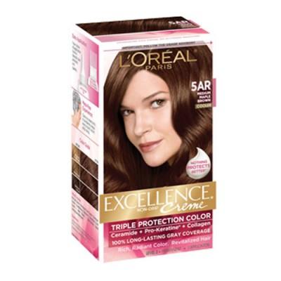 Thuốc nhuộm tóc L'oreal Excellence Creme 5AR Medium Maple Brown Mỹ