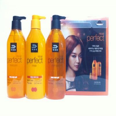 Bộ dầu gội, xả dành cho tóc khô hư tổn và dụng nhiều Mise En Scene Perfect Repair 680ml