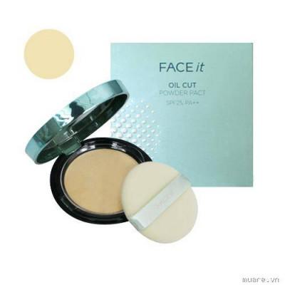 Phấn phủ cho da dầu Face It Oil Cut Powder Pact TheFaceShop - Hàn Quốc